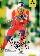 AK Cross-country Skiing Marit Bjørgen Bjoergen Original Autograph Card Autogramm - Winter Sports