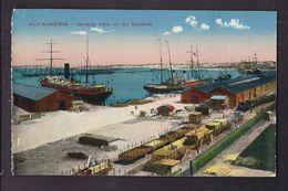 CPA EGYPTE - ALEXANDRIA - General View Of The Hairbour ? - Harbour ? - TB PLAN PORT Bâteau TRAIN WAGONS CHEMIN DE FER - Alexandria