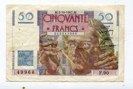 Billet De 50 F 1947 :   Le Verrier        A   VOIR   !!! - 1871-1952 Anciens Francs Circulés Au XXème
