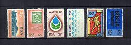 Africa Del Sur   1969-70  .-   Y&T  Nº  322/323-324/325-326/327 - África Del Sur (1961-...)