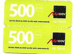 @+ Benin - Lot De 2 Recharges GSM Moov - 500 (31/12/2011) - Bénin