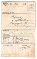 Mil.LUCHTPOSTBLAD.No 8. NIX W.o.7442 - Niederländisch-Indien