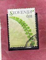 SLOVENIA SLOVENIJA SLOVENIE SLOWENIEN 2007 FLORA FLOWERS FIORI FLEURS Asplenium Adulterinum CENT. 1 USATO USED OBLITERE' - Slovenia