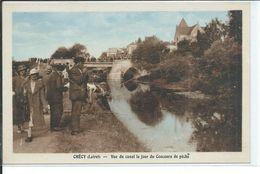 Chécy-Vue Du Canal Le Jour Du Concours De Pêche - France