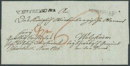 BAYERN SCHWABACH R3, L1, Sowie Württembergischer Einzeiler SCHW.GMÜND R 3, Beide Vorderseitig Auf Doppelt Verwendetem Br - [1] ...-1849 Prephilately