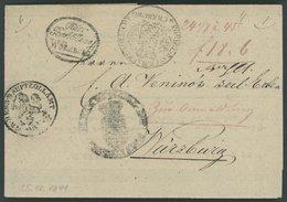 BAYERN Fuhrmannsbrief Von 1841 Mit Kleinem Ovalstempel Güter Bestätterei WÜRZBURG, Sowie 3 Zollstempeln, Pracht - [1] ...-1849 Prephilately