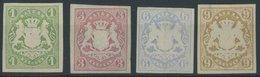 BAYERN 14a-17 *, 1867, 1 - 9 Kr., Falzreste, 4 Werte Feinst/Pracht, Mi. 285.- - Bavaria
