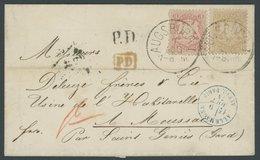 BAYERN 23,24Y BRIEF, 1874, 6 Kr. Lebhaftockerbraun Und 3 Kr. Hellkarmin Mit K1 AUGSBURG I Auf Dekorativem Prachtbrief Na - Bavaria