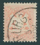 BAYERN 27Xa O, 1870, 18 Kr. Mattziegelrot, Wz. Enge Rauten, Pracht, Gepr. Brettl, Mi. 300.- - Bavaria