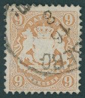 BAYERN 28X O, 1870, 12 Kr. Dunkelbraunpurpur, Wz. Enge Rauten, Pracht, Gepr. Bühler, Mi. 600.- - Bavaria