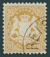 BAYERN 35 O, 1875, 10 Kr. Dunkelchromgelb, Wz. 2, Kabinett, Gepr. Brettl, Mi. (320.-) - Bavaria
