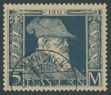 BAYERN 89II O, 1911, 5 M. Luitpold, Type II, Pracht, Mi. 220.- - Bavaria