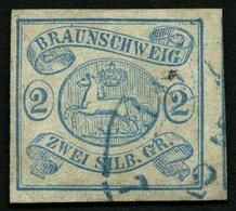BRAUNSCHWEIG 2 O, 1852, 2 Sgr. Lebhaftpreußischblau, Pracht, Mi. 350.- - Brunswick