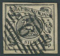 BRAUNSCHWEIG 5 O, 1856, 1/3 Sgr. Schwarz, Nummernstempel 9, Kabinett, Mi. (450.-) - Brunswick