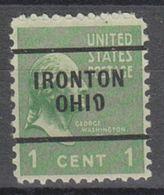 USA Precancel Vorausentwertung Preo, Locals Ohio, Ironton 703 - Vereinigte Staaten