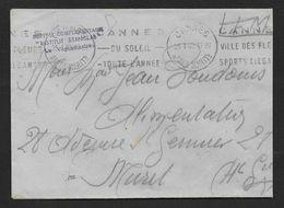 """Alpes Maritimes - Hopital Complémentaire """" INSTITUT STANISLAS """"  Cannes 1940 - Marcophilie (Lettres)"""