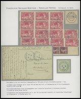 FRANKREICH FELDPOST Brief,BrfStk , 1924, Feldpostkarte Mit FP-Stempel Nr. 96 Und 17 Marken (15x Mi.Nr. 170) Auf Militärt - Postmark Collection (Covers)