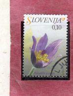 SLOVENIA SLOVENIJA SLOVENIE SLOWENIEN 2007 FLORA FLOWERS FIORI FLEURS Pulsatilla Grandis CENT. 10 USATO USED OBLITERE' - Slovenia