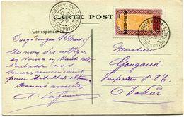 HAUTE-VOLTA CARTE POSTALE DEPART OUAGADOUGOU-AUXILre 19 MARS 25 HAUTE-VOLTA POUR LA FRANCE - Upper Volta (1920-1932)