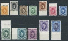 ÄGYPTEN 82-93 **, 1923, König Fuad I, Postfrisch, üblich Gezähnter Prachtsatz - Unclassified