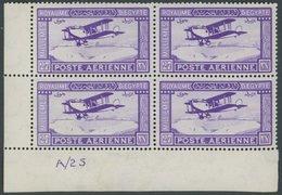 ÄGYPTEN 103 VB **, 1926, 27 M. Fluglinie Kairo-Bagdad Im Linken Unteren Eckrandviererblock Mit Bogennummer, Postfrisch,  - Unclassified