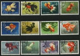 CHINA - VOLKSREPUBLIK 534-45 O, 1960, Goldfische, Prachtsatz, Mi. 130.- - China