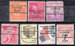 USA Precancel Vorausentwertung Preo, Locals Ohio, Kidron 729, 7 Diff. - Vereinigte Staaten