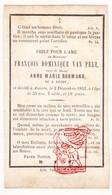 DP François D. Van Pelt ° Retie 1797 † Antwerpen 1852 X Anna M. Bosmans - Images Religieuses