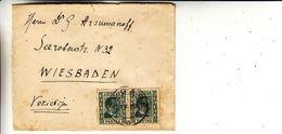 Lituanie - Lettre De 1937 - Oblit Zagare - Exp Vers Wiesbaden - - Lithuania