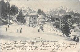 Suisse LEYSIN Le Patinoir Pension Palettaz Et Hôtel Du Chamossaire  Animation  ..G - VD Vaud