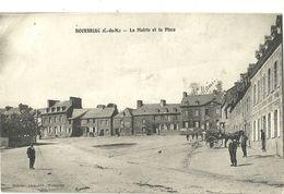 BOURBRIAC.  La Mairie Et La Place. - Autres Communes
