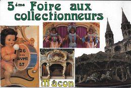 BOURSE SALON  5 EME FOIRE COLLECTIONNEURS MACON 71 SAONE ET LOIRE 1987 MUSIQUE ORGUE BARBARIE MANEGE - Collector Fairs & Bourses