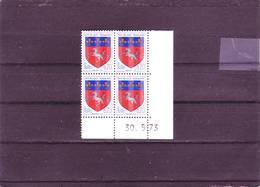 N° 1510 - 0,20F Blason De Saint LO -  - 14° Tirage Du 22.5.73 Au 376.73- 30.051972 - ( 3 PHO) - Dated Corners