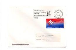 Flamme Trinité  Martinique Bicentenaire Révolution Française Y-T 2560 Bicentenaire Révolution Française - Folon G - Storia Postale