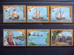 "Nicaragua 1982  N° Y&T  1214/17 + PA 1001/1002  "" 490 Ans Découverte Amerique  ""  6v.  Used - Nicaragua"