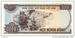 VIETNAM P. 102a 1000 D 1987 UNC - Vietnam