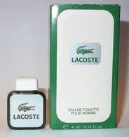 Lacoste : Eau De Toilette Pour Homme, 4ml, Dans Sa Boite, Parfait état - Miniatures Hommes (avec Boite)