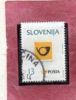 SLOVENIA SLOVENIJA SLOVENIE SLOWENIEN 1995 POSTAL SERVICE EMBLEM EMBLEMA POSTA 13t USATO USED OBLITERE' - Slovenia
