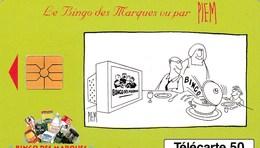 TELECARTE 50 UNITES   .  BINGO DES MARQUES..PIEM - France