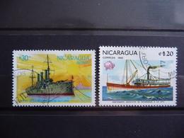 """Nicaragua 1987/1982  N° Y&T  1200 Et 1194  """" Cuirassé Potemkine + Bateau Vapeur """"  2v.  Used - Ships"""