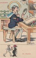 18 / 2 / 393  -  NOS  MARINS  - FOURRIER   - (SIGNÉ  GERVÈSE ) - Gervese, H.
