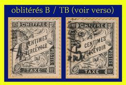TAXE N° 13-14 TYPE DUVAL 1881-92 -  OBLITÉRÉS B / TB (VOIR VERSO) - 1859-1955 Gebraucht