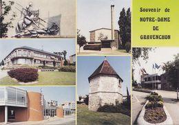 CPA - CPSM - 76 - NOTRE DAME DE GRAVENCHON - Multi Vues - GF.199 - France