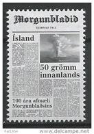 Islande 2013, N°1333 Neuf  Anniversaire Du Journal - 1944-... Republik