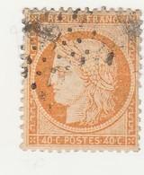 France N° 38a Ceres Siége De Paris 40 C Jaune-orange - 1870 Siege Of Paris