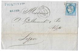 LETTRE Avec N°60/1   6 G1; TTB - 1871-1875 Cérès