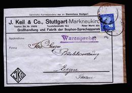 A5166) DR Adressträger Warenprobe 1925 ? EF 20 Pfg. - Deutschland