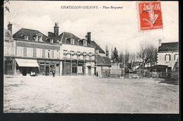 45, Chatillon Coloigny, Place Becquerel ( Echaffaudage Devant Le Magasin Du Peintre ) - Chatillon Coligny