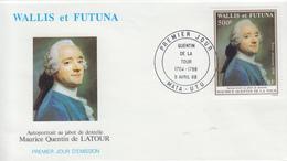 Enveloppe  FDC  1er  Jour    WALLIS  ET  FUTUNA    Oeuvre  De  Maurice   QUENTIN  DE  LA  TOUR    1988 - FDC