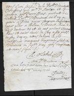 Autorisation De Circuler Par Le Curé D'Escoutoux (Puy De Dome) 1722 - Historical Documents